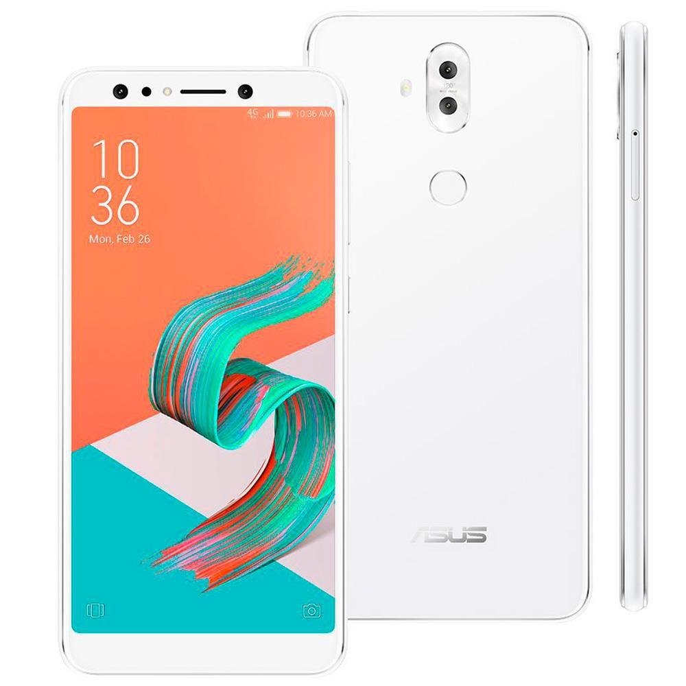 """Smartphone Asus Zenfone 5 Selfie Pro  128GB, Tela 6.0"""", 4GB RAM, Câmeras Duplas, Sensor Biométrico, Processador Octa Core e Android 7.0"""