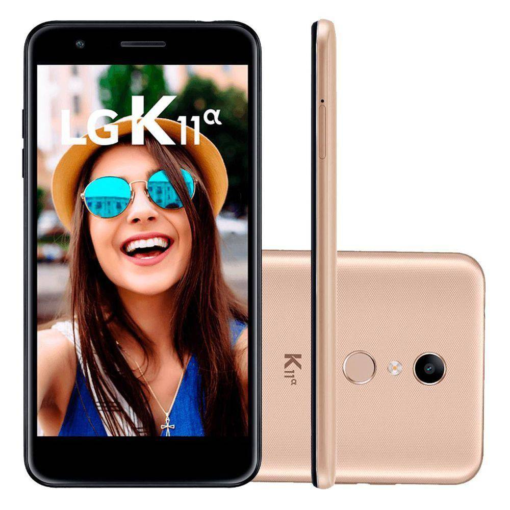 "Smartphone LG K11 ALPHA, LMX410BTW , Tela de 5.3"", 16GB, 8MP"