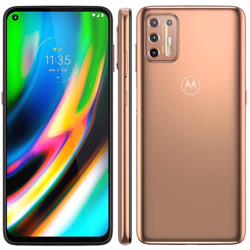 Smartphone Motorola Moto G9 Plus 128GB, 4GB RAM, Tela de 6.8, Câmera Traseira Quádrupla, Android 10 e Processador Octa-Core