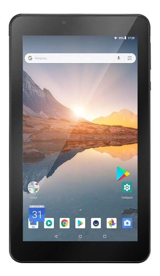 Tablet Multilaser M7S Plus Quad Core Câmera Wi-Fi 1 GB RAM Tela 7 Memória 8GB Dual Chip