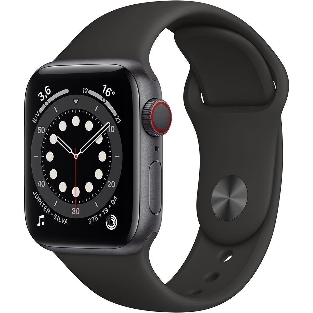 Watch Serie 6 Apple (GPS) 44mm, com Pulseira Esportiva Preto-Apple