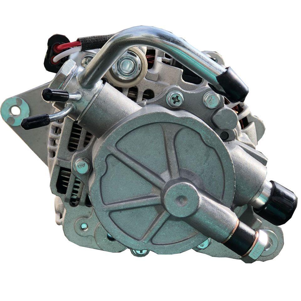 Alternador L200 2.5 8v Ano  2000 a 2007 com Polia Dupla e Bomba de Vácuo 75 Amperes