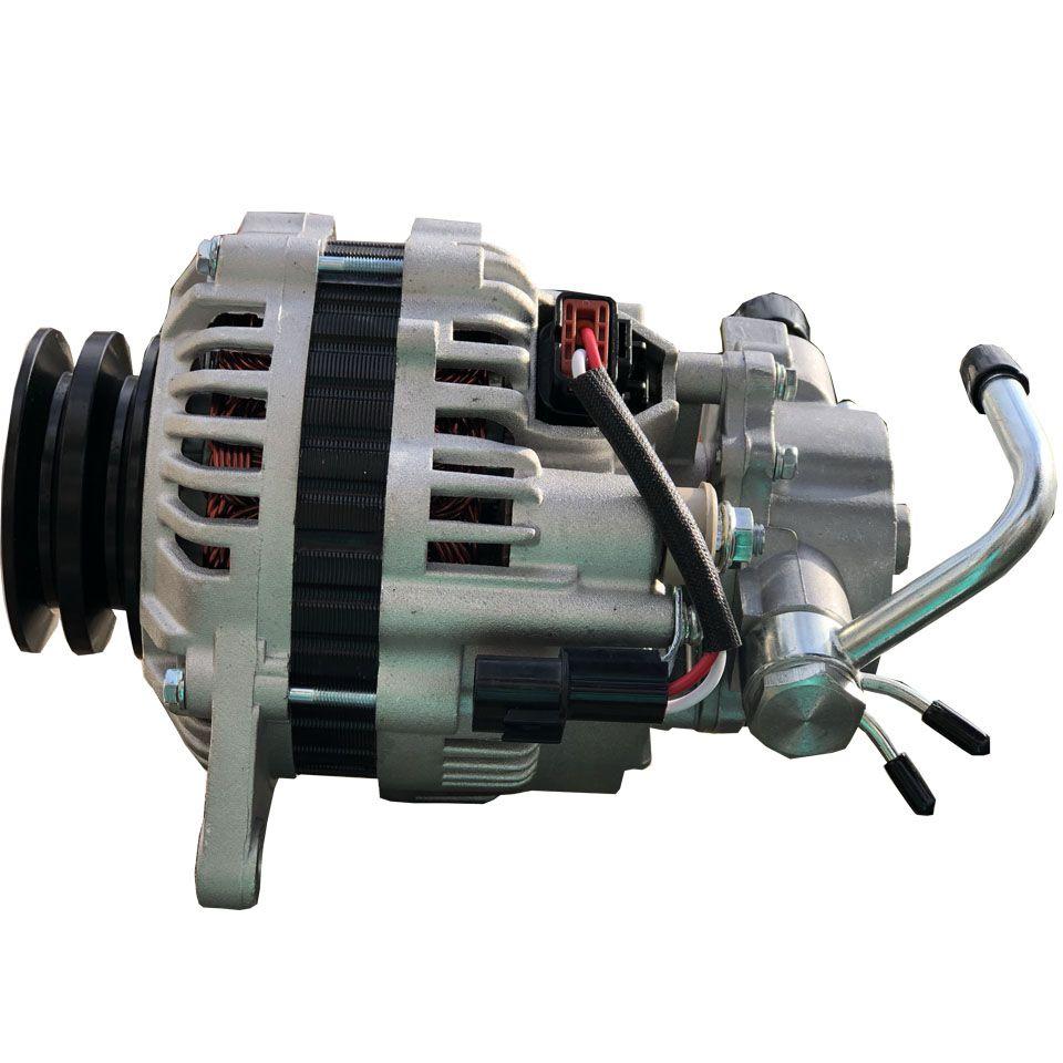 Alternador Pajero 2.5 8V GL /  GLS e Sport com Polia Dupla e Bomba de Vácuo 75 Amperes