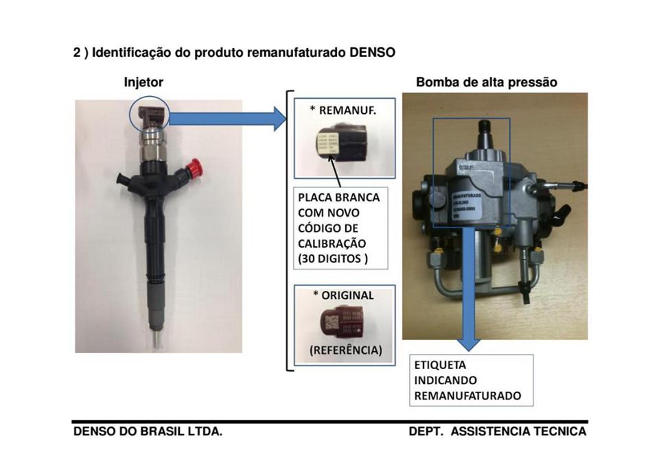 Bico Injetor Hilux 2.5 16v Diesel Ano 2005 a 2009 Remanufaturado Pela Denso