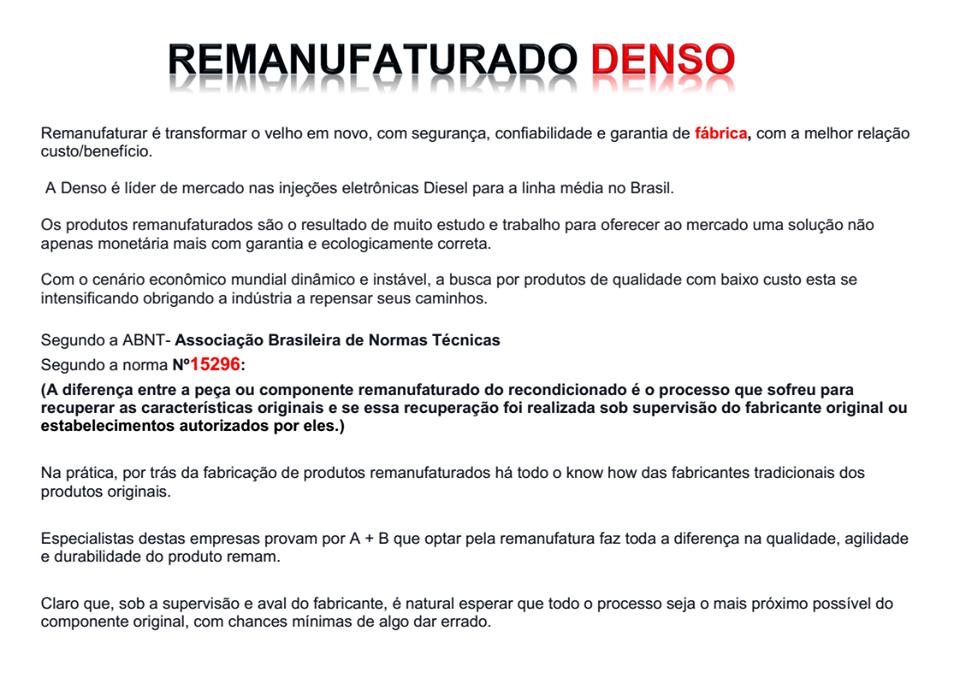 Bico Injetor Hilux 3.0 16v Diesel Ano  2005 a 2009 Remanufaturado Pela Denso