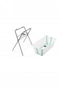 Banheira com suporte flexível Transparente verde - Stokke