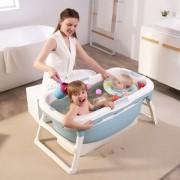 Banheira de plástico flexível pequena Azul - Baby Pil