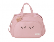 Bolsa e Mochila maternidade grande rosa coleção chuva de amor - Pirulitando baby