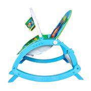 Cadeira de descanso vibratória musical com bandeja removível azul até 20kgs - Colorbaby