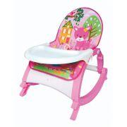 Cadeira de descanso vibratória musical com bandeja removível Rosa até 20kgs - Colorbaby