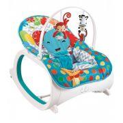 Cadeira de descanso vibratória musical e com balanço safari Azul até 18kgs - Colorbaby