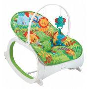 Cadeira de descanso vibratória musical e com balanço safari Verde até 18kgs - Colorbaby
