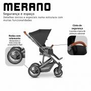 Carrinho com bebê conforto Merano Black até 22 kg - Abc Design