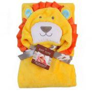 Cobertor de bebê bichinhos Leão Amarelo