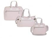 Kit Bolsa maternidade 3pçs Bolsa, mala e Frasqueira Classic Rosa - MB Baby