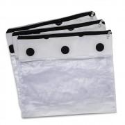 Conjunto com 3 saquinhos para bolsa maternidade Brooklin preta e branca - Masterbag Baby