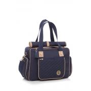 Kit Bolsa de maternidade com mala e frasqueira Atlanta Azul - Lequiqui