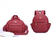 Kit bolsa e mochila de maternidade colours vermelha - By Children