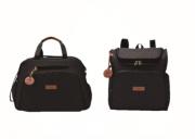 Kit Bolsa e mochila maternidade preta coleção prática - Pirulitando Baby
