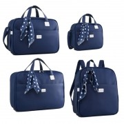 Kit Bolsa maternidade coleção Candy Azul - Just Baby