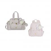 Kit Bolsa maternidade com Mochila Lu Ballet Rosa - Masterbag Baby