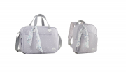 Kit bolsa maternidade e mochila Térmica Cinza Bunny - Just Baby