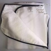 Kit com 3 toalhas de banho com capuz e forrada (0,67 x 0,67 cm) - Kolola Baby