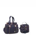 kit de Bolsa e frasqueira Maternidade Azul Marinho Atlanta - Lequiqui
