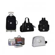 Kit de Bolsa Maternidade com 5 itens Nylon Glow preta - Masterbag Baby