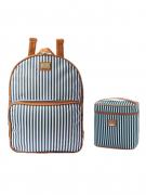 Kit de mochila maternidade e frasqueira lollipop azul - Hug