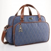 Kit mala de rodinha e bolsa Chicago Jeans - Just Baby