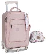 Kit Mala de rodinha e Necessaire maternidade rosa Flora - Masterbag Baby