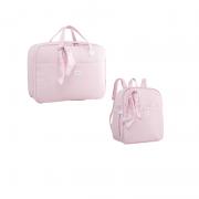 Kit Mala e mochila maternidade Candy Rosa - Just Baby