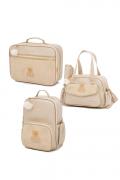Kit Mala maternidade com bolsa e mochila Virginia - Lequiqui