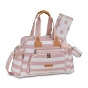 Kit mala maternidade com rodinha, bolsa e  mochila Brooklin Rosa - Masterbag Baby