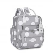 Kit mala maternidade com rodinha e mochila Urban Bubble Cinza - Masterbag Baby