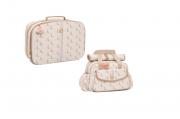 Kit Mala maternidade e bolsa monograma caramelo  - Lequiqui