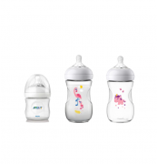 Kit Mamadeira Avent Pétala 125ml, 260ml Unicórnio e 260ml Flamingo - Philips Avent