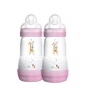 Kit mamadeira MAM Easy Start rosa 260ML - MAM
