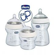 Kit Mamadeira transparente Anti-refluxo Step Up - Chicco