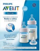 Kit Mamadeiras Anti-Colic 125 e 260ml Philips Avent - Azul