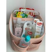 Kit porta fralda com produtos Huggies Rosa - Lequiqui
