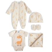 Kit presente bebê 5 pçs Suedine 100% algodão - Tip Top