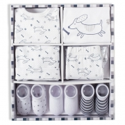Kit presente bebê 7 pçs azul Suedine 100% algodão - Tip Top
