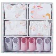 Kit presente bebê 7 pçs rosa Suedine 100% algodão - Tip Top