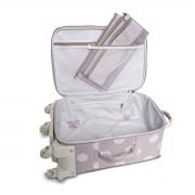 Mala maternidade com rodinha Bubble Rosa - Masterbag Baby