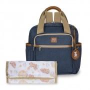 Mochila maternidade de passeio Azul - Coleção Jeans - MB Baby