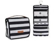 Nécessaire de viagem Coleção Brooklin Preta e Branca - Masterbag Baby