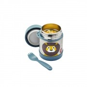 Pote Térmico Inox com Talher duração de 4 a 6 horas quente ou frio Leão - 3 Sprouts