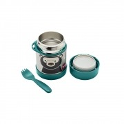 Pote Térmico Inox com Talher duração de 4 a 6 horas quente ou frio Urso - 3 Sprouts